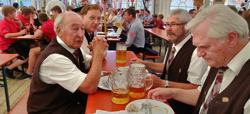 Liedertafel Isen auf der 150-Jahr Feier der Feuerwehr Isen