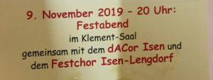 Festabend zur 150-Jahr Feier der Liedertafel Isen von 1869 e.V.